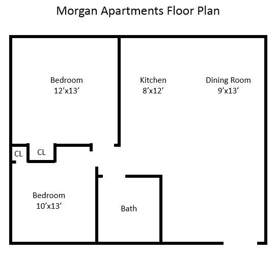 Apartments For Rent In Winchester Va: Morgan Apartments 2BR Floorplan