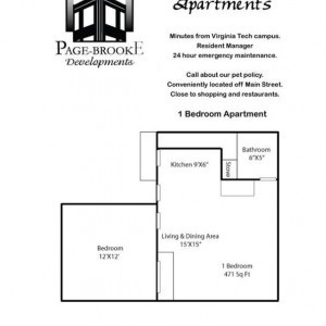 Ridgeview 1BR Floorplan