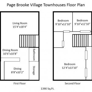 Page Brooke 3BR Floorplan