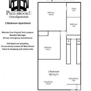 Ridgeview 2BR Floorplan