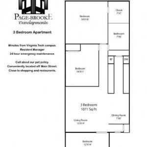 Ridgeview 3BR Floorplan
