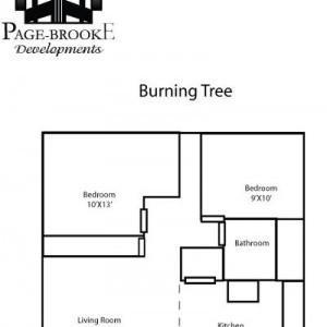 Burning Tree Apartments 2BR Floorplan