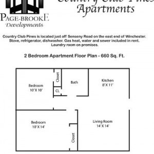 Country Club Pines 2BR Apartment floorplan