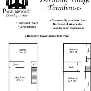 Northside Village 2BR Floorplan