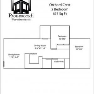 Orchardcrest Apartments 2BR Floorplan